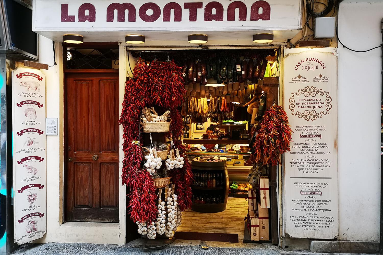 Geschäft mit Spezialitäten in Palma