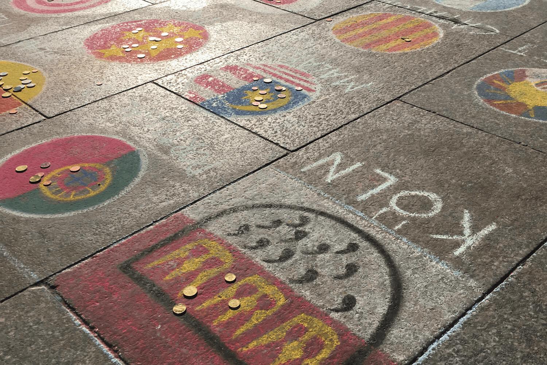 Köln Wappen auf Domplatte